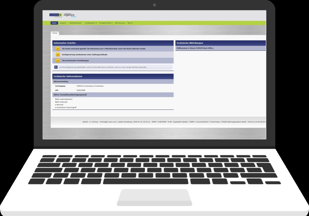 Merchant login | VIVEUM Payment Service Provider
